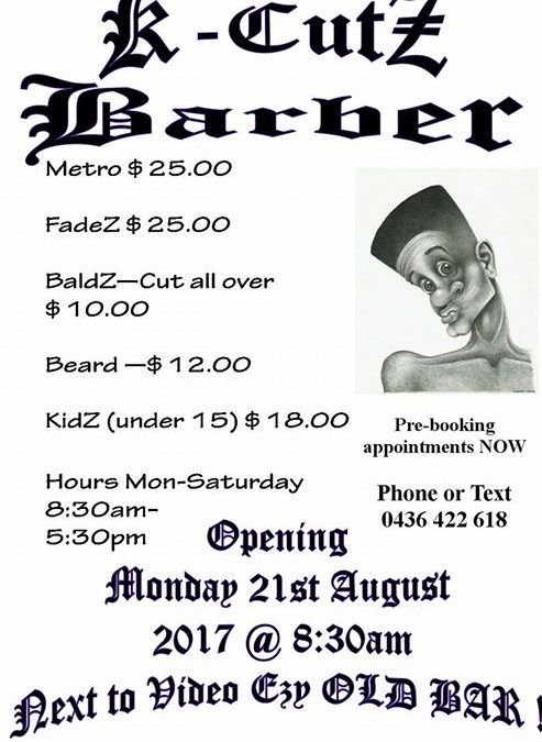 New Barber in town – let …