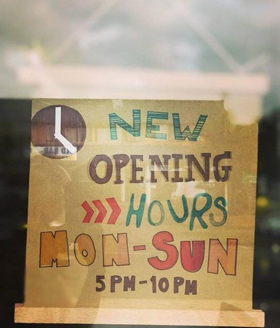 Our new OPENING HOURS:…