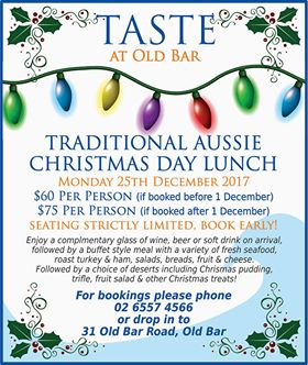 Christmas lunch at Taste