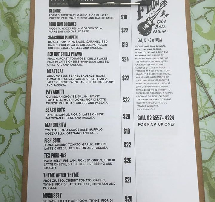 NEW PIZZA MENU available …