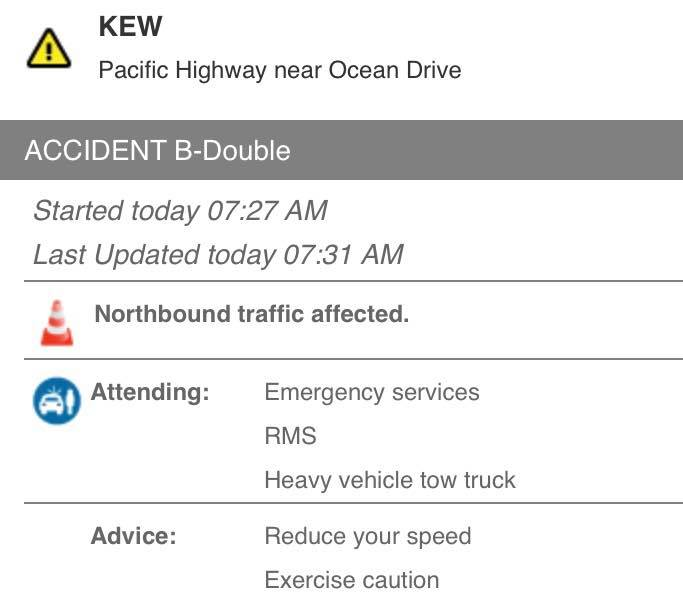 Accident at Kew, south of…