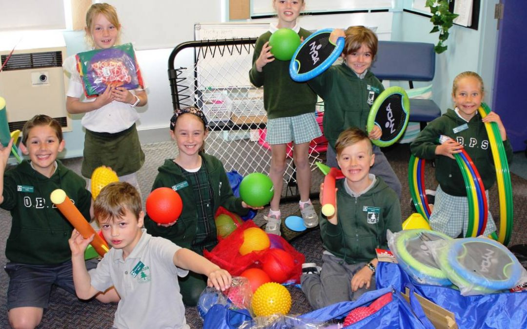 Old Bar Public School students enjoy new sporting equipment