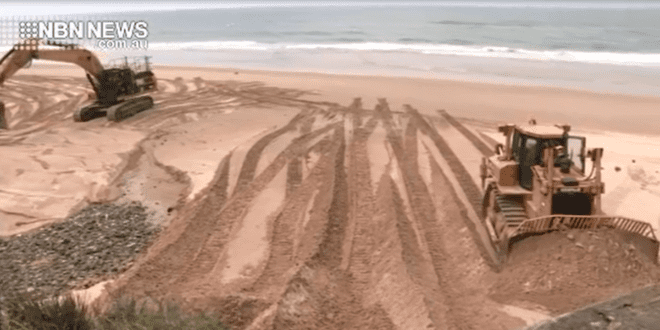 SAND SCRAPPING TRIAL ON OLD BAR BEACH | NBN News