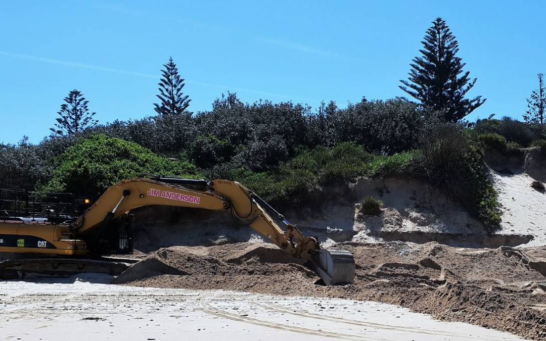 Old Bar News: Sand scraping started at Old Bar